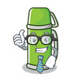 businessman thermos character cartoon style vector image