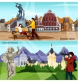 European Countries Compositions Set vector image