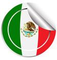 mexico flag in sticker design vector image