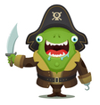monster pirate vector image