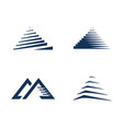 pyramid logo template ilustration vector image