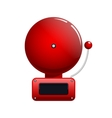red fire alarm bell vector image