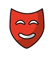 theater mask classic icon vector image