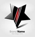Brand black star logo vector image