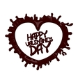 Chocolate Happy Valentines Day 3D vector image