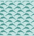 Pattern with jumping dolphins vector image