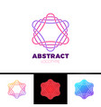 colorful abstract line star logo design vector image