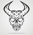 Demon Head vector image