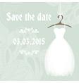 Bridal shower invitation cadr template vector image