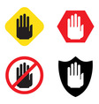 No entry hand sign vector image