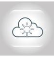 climate cloud weather nature vector image