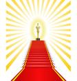 Golden statue red carpet vector image