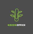 green office logo vector image