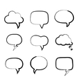 Grunge painted hand-drawn speech bubbles vector image