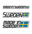 made in sweden vector image