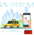 mobile auto application transport service vector image