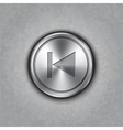 round metal backward rewind button vector image