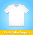 Simple T-Shirt template vector image