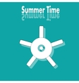 Summer time poster with wheel vector image
