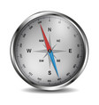 compass in silver design with red and blue needle vector image