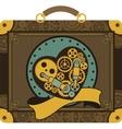 Steampunk mechanical heart vector image