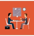 Business people two men at the table negotiating vector image
