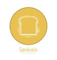 Sandwich design fast food  menu vector image