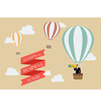 Businessman looking for business in a hot air vector image