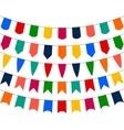 Collection of festive decorative flags holiday vector image