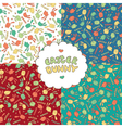 Easter patterns with Easter bunnies vector image