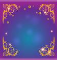 gold holiday magic frame vector image