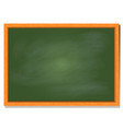 green board with wood frame design vector image