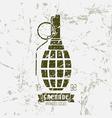 Hand grenade print vector image