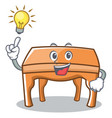 have an idea table character cartoon style vector image