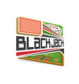 logo for blackjack vector image