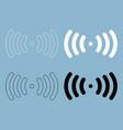 radio signal the black and white color icon vector image