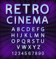 set Retro neon sign vintage billboard bright vector image