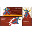 Superhero banners set vector image