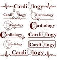 symbols of cardiology vector image