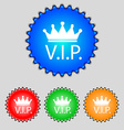Vip sign icon Membership symbol Very important vector image