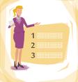 Worker woman presentation vector image