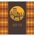 Yellow city vector image