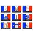 Paris destination traveler vector image