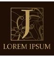 Background with J letter golden vector image