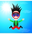 Fun skydiver flying vector image