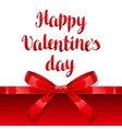 Happy Valentine day greeting card with shiny vector image vector image