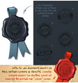 wax seal - black friday sales vector image
