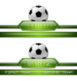 football score vector image vector image
