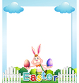 An Easter Sunday empty card template vector image vector image