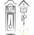 with clocks vector image